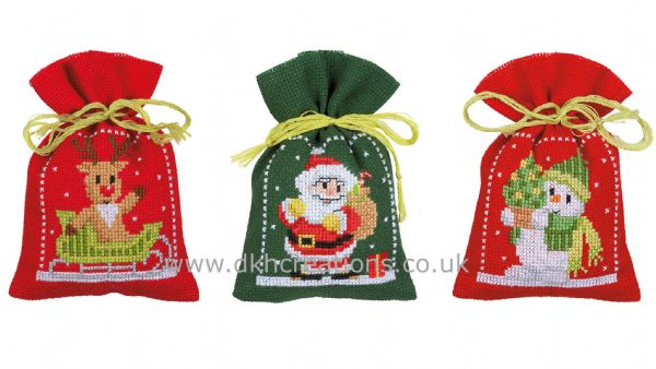 Christmas Figures Pot Pourri Bags Cross Stitch Kit